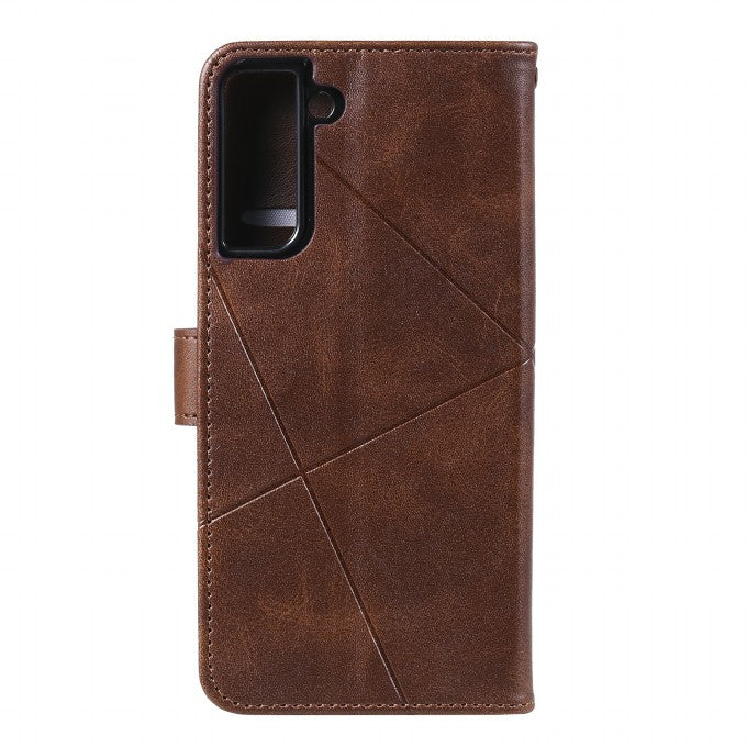 Imprinted Geometric Texture Leather Case for Samsung Galaxy S21+ / Samsung Galaxy S21 Plus