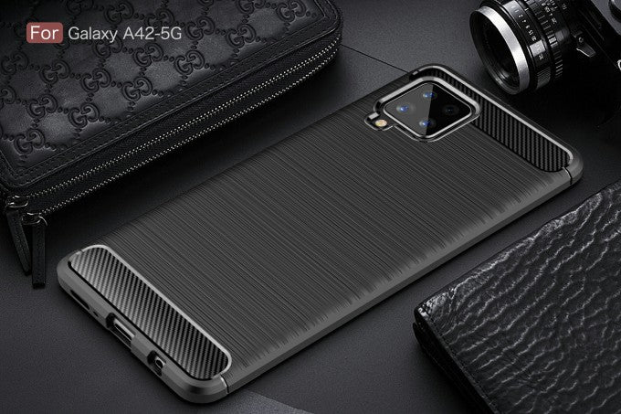 Carbon Fiber TPU Phone Protective Case for Samsung Galaxy A42 5G