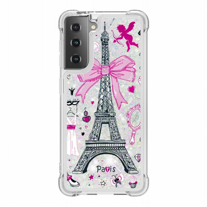 Patterned Quicksand Shockproof TPU Protector Case for Samsung Galaxy S21+