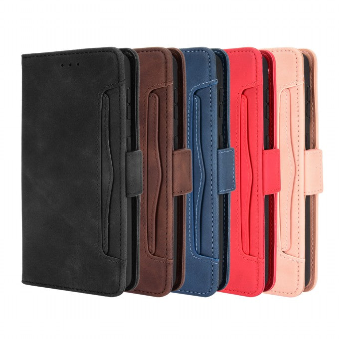 Protective Case Stand Leather Case Multiple Card Slots for Samsung Galaxy S21