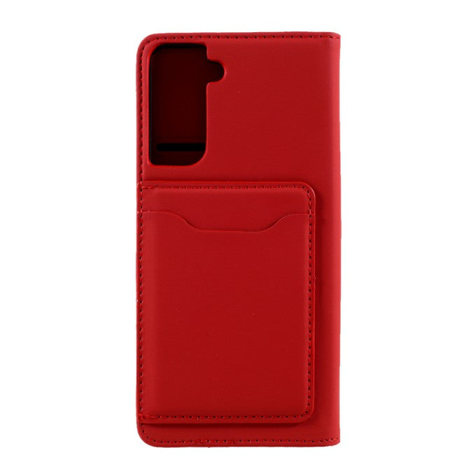 Liquid Silicone Feel Leather Wallet Case for Samsung Galaxy S21
