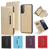 Detachable 2-in-1 Magnet Leather Wallet Phone Protection Case for Samsung Galaxy S21+