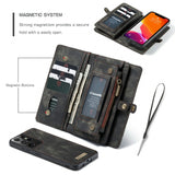 2-in-1 Wallet TPU+Split Leather Phone Case for Samsung Galaxy S21 Ultra