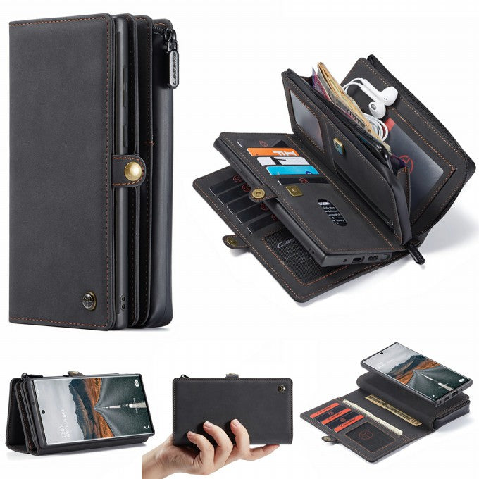 2-in-1 Matte Skin Leather Wallet Phone Case for Samsung Galaxy S21+
