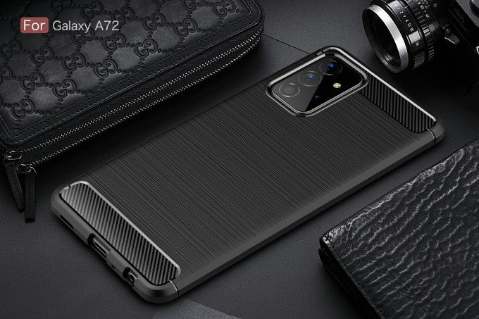 Brushed Carbon Fiber TPU Protector Case for Samsung Galaxy A72 5G