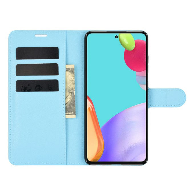 Litchi Texture Leather Wallet Stand Phone Case for Samsung Galaxy A52 5G
