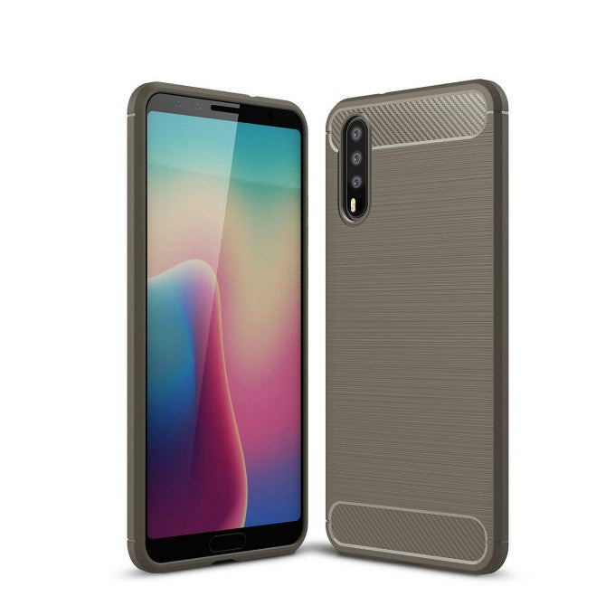 Brushed carbon fiber TPU Protective Case for Huawei P20