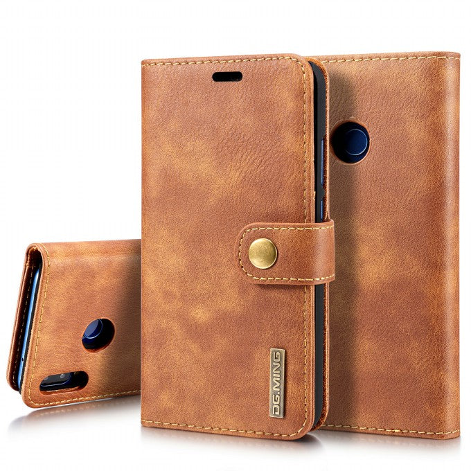 Wallet Detachable 2-in-1 Split Leather Phone Case for Huawei P2Lite (2018)