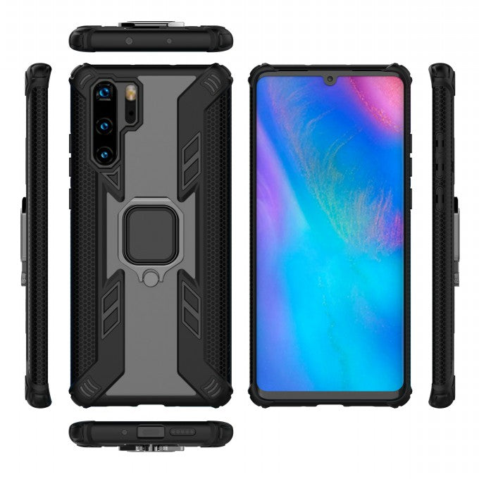 Anti-drop PC + TPU Protective Case with Kickstand for Huawei P3Pro
