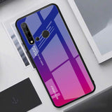 TPU + Gradient Color Glass Protective Case for Huawei P2lite (2019)