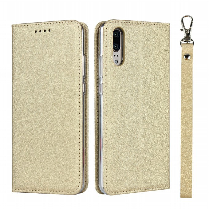 Silk Texture Wallet Silk Texture Leather Phone Case for Huawei P20