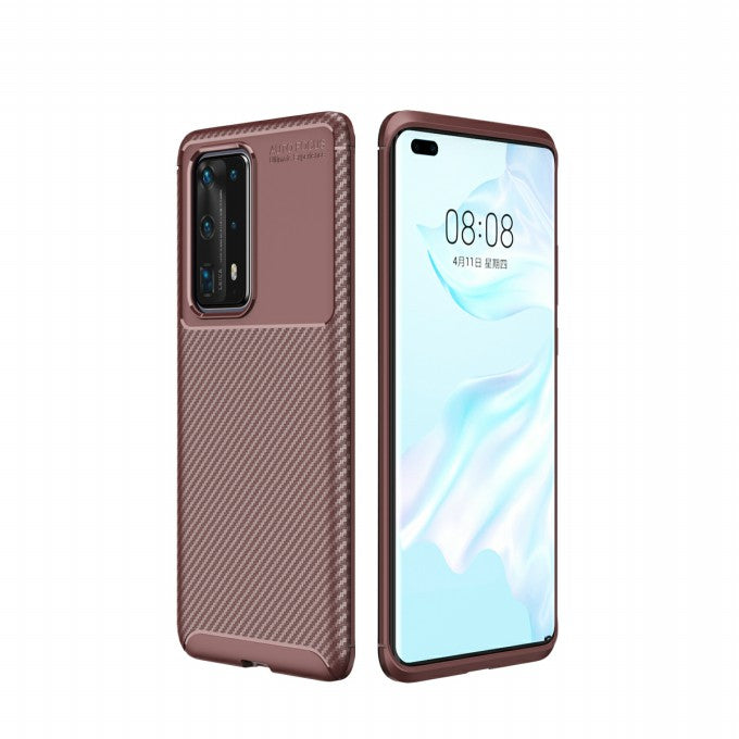 carbon fiber TPU Protective Case for Huawei P4Pro+