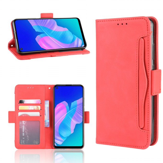 Wallet Leather Protective Case with Stand for Huawei P4lite E