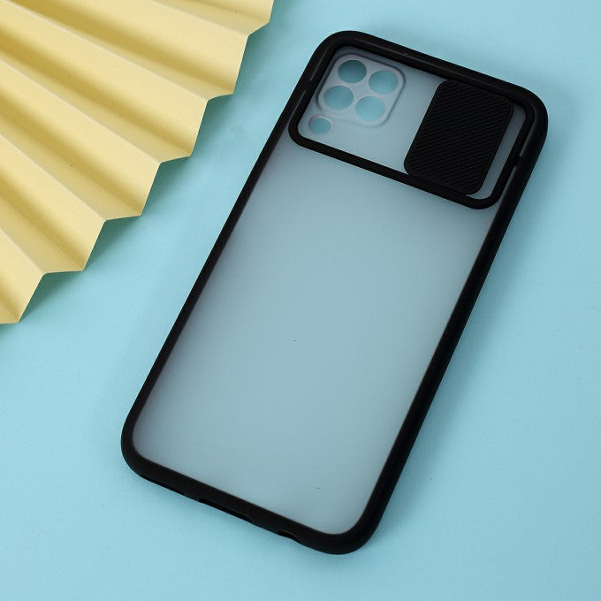 Matte PC + TPU Protective Case with Slide Camera Cover for Huawei P4lite 4G
