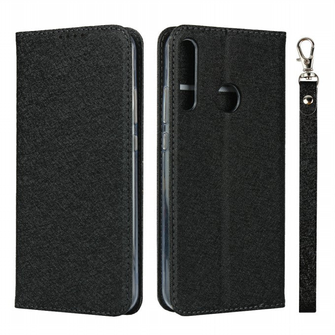 Silk Texture Wallet Leather Stand Case for Huawei P40 lite E