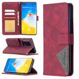 Geometric Texture Wallet Stand Leather Phone Case for Huawei P40 Pro