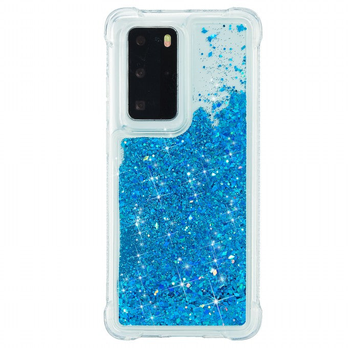 Solid Color Glitter Powder Quicksand TPU Shell for Huawei P40 Pro