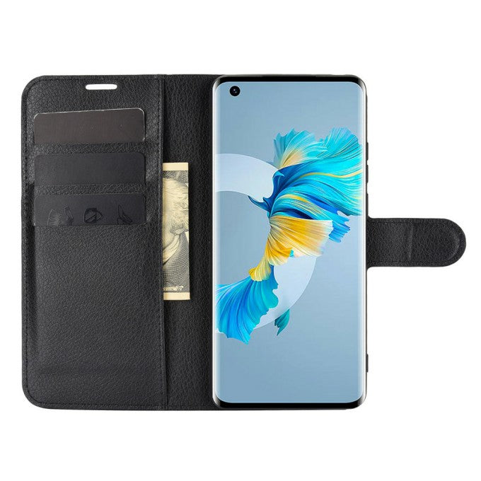 Wallet Stand Design Litchi Grain Leather Phone Case for Huawei Mate 40