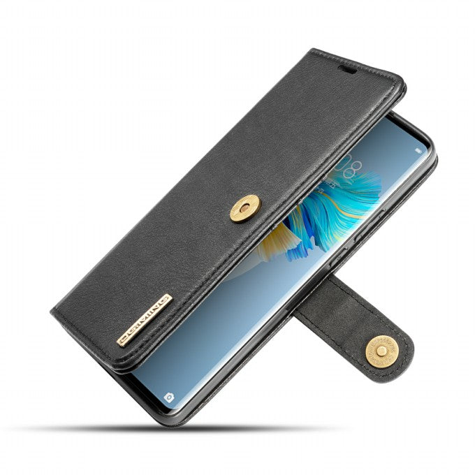 2-in-1 Wallet Split Leather Case PC Back Case for Huawei Mate 40 Pro