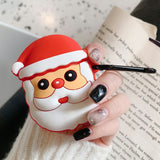 Cartoon Christmas Style Silicone Protactive for Apple AirPods with Charging Case (2019)