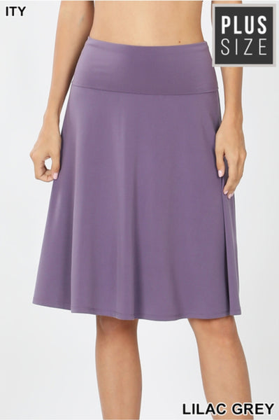 PLUS FOLD OVER A-LINE FLARED SKIRT
