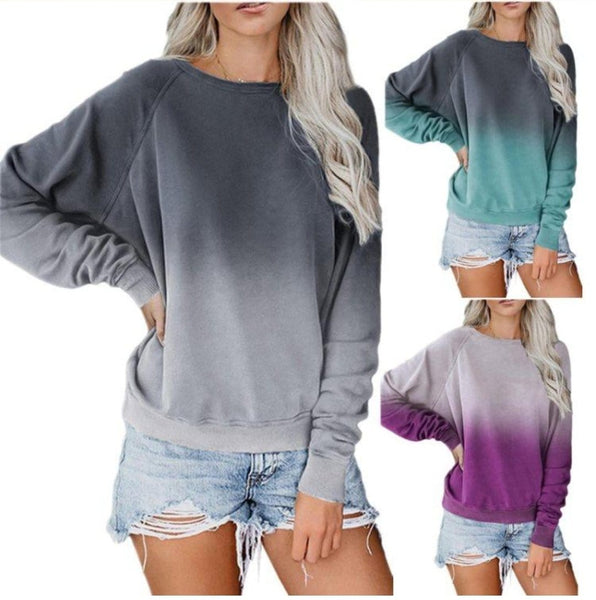 GRADIENT LONG SLEEVE SWEATSHIRT