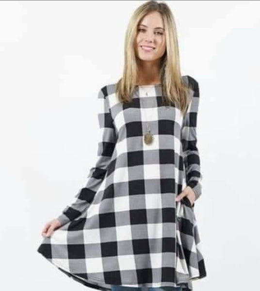 PLAID TUNIC/DRESS