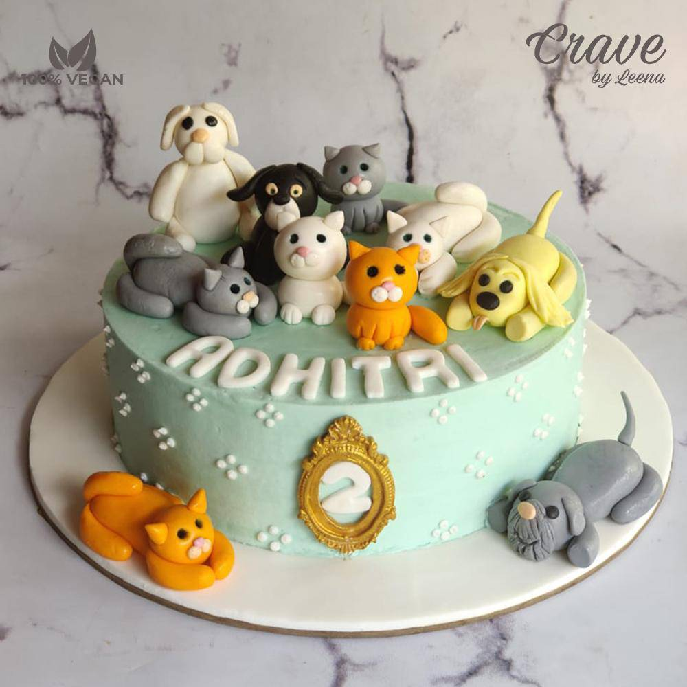 Raining Cats and Dogs Cake - Crave