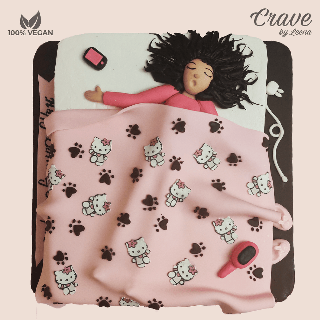 Girl Snoozing with Hello Kitty Fleece - Crave