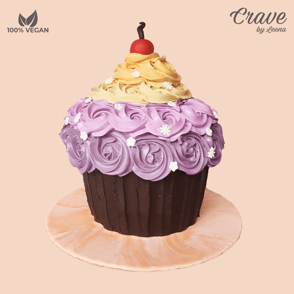Purple Giant Cupcake Cake - Crave