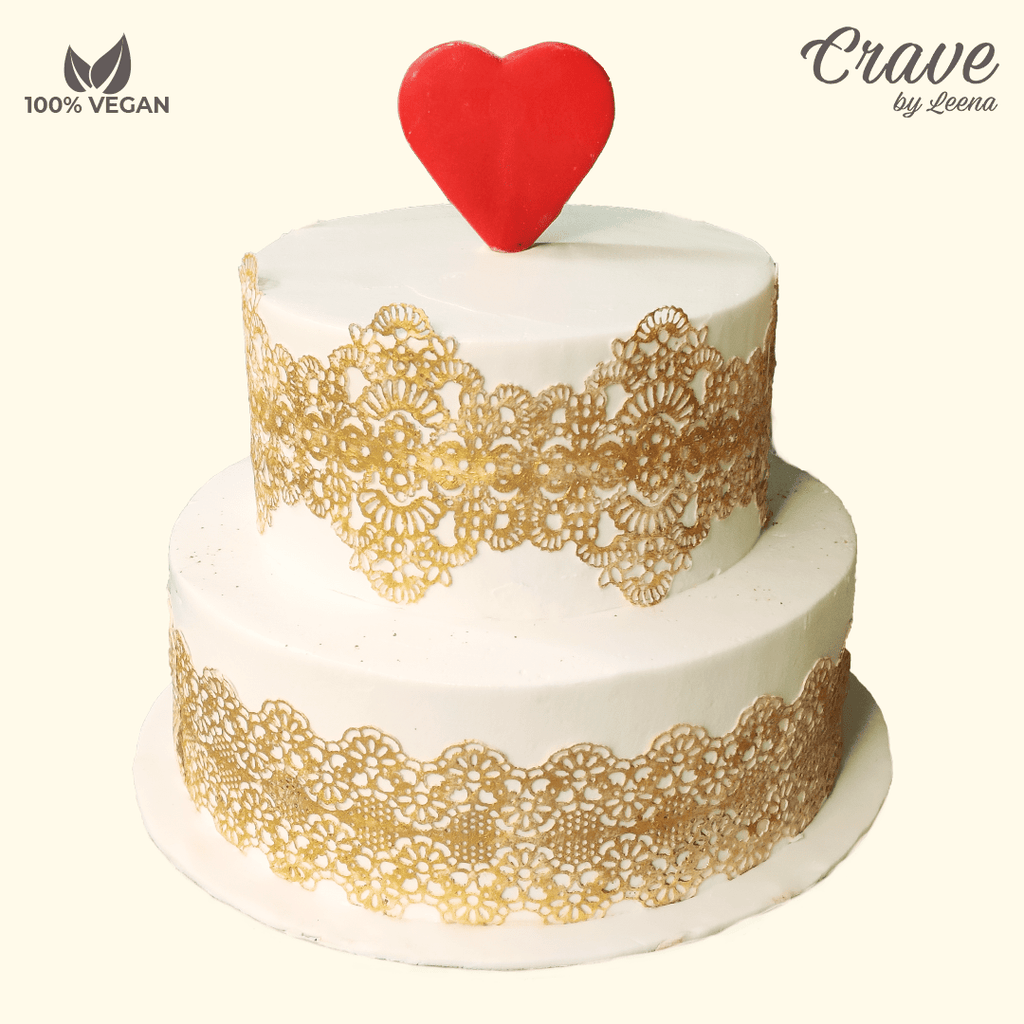 Wedding Cake laced in Gold - Crave