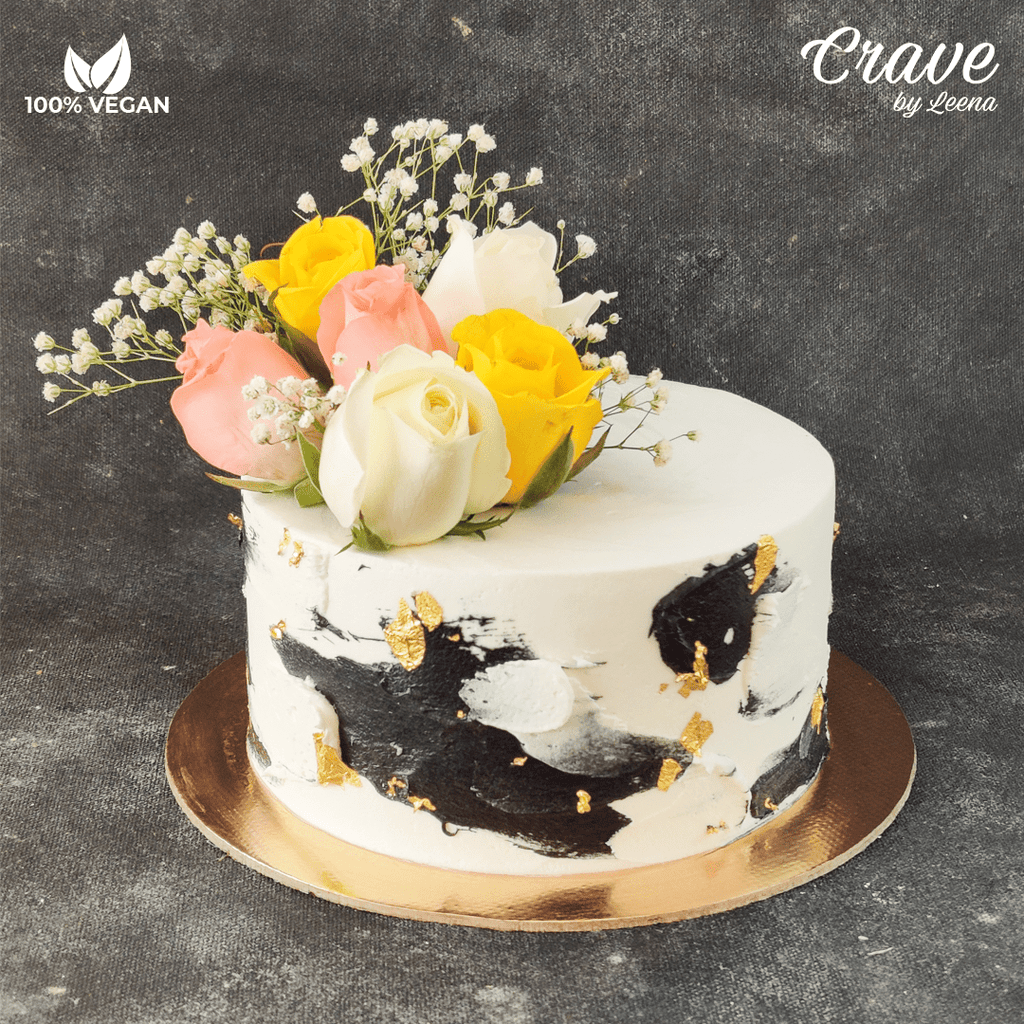 Black, White and Gold Cake - Crave