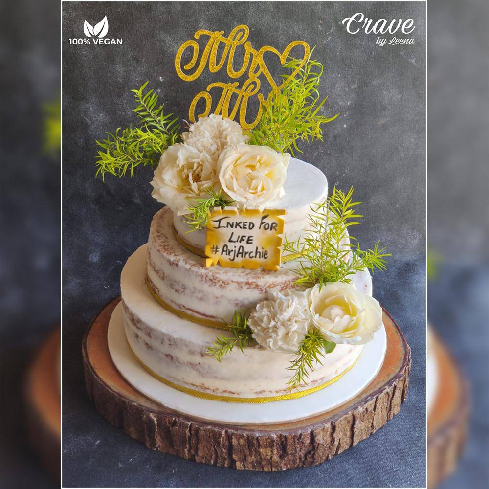 Naked Floral Engagement/Wedding Cake - Crave