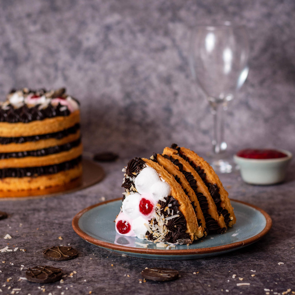 Layered Tart Cake - Chocolate Raspberry & Coconut - Crave