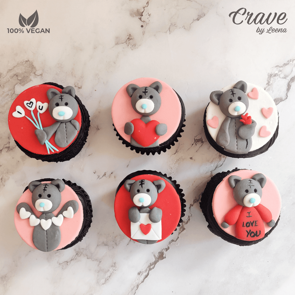 Cute Teddy Cupcakes (Box of 6) - Crave