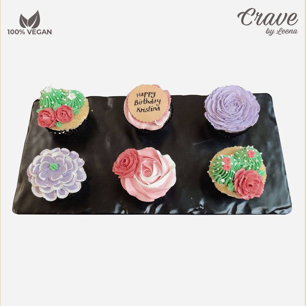 Floral and Cacti Cupcakes - Crave