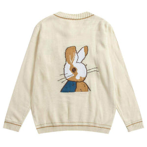 Double Sided Knit Bunny Cardigan Coat