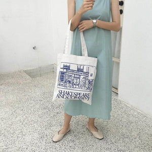 SHAKESPEARE AND COMPANY Tote Bag