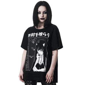 Lose Dress Gothic Anime T-shirt