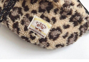 Retro Leopard Plush Chest Bag
