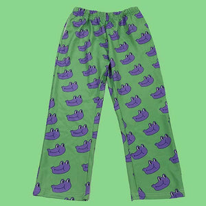 Purple Frog Wide Pants