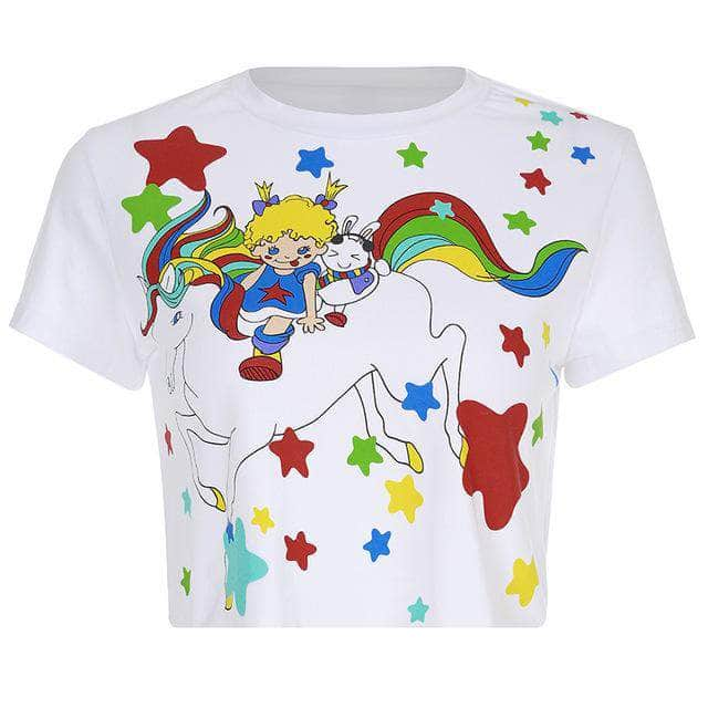 Rainbow Unicorn Crop Top