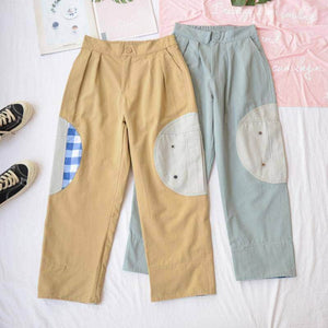 Exclusive PatchWork Straight Pants