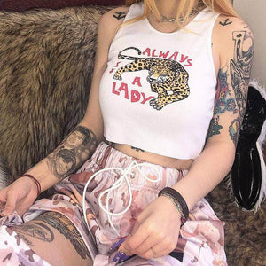 AAL Leopard Cami Crop Top