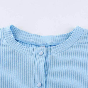 corduroy Buttons Crop Top