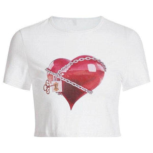 Locked Heart Crop Top