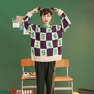 Numbers Boxes Multicolor Sweater