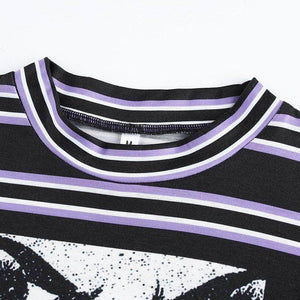 Striped Anime Crop Top