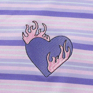 Striped Flamable Heart