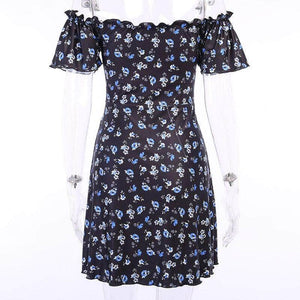 Short Butterfly Ruffle Dress